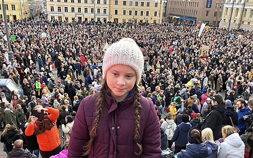16 year old climate change activist Greta Thunberg