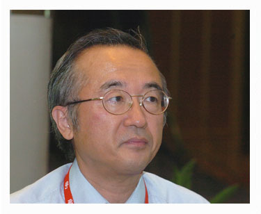 "Picture of former Japan Fisheries Agency chief Masayuki Komatsu referred to minke whales as ""cockroaches of the ocean, during an interview in 2001,"
