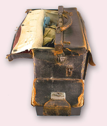 Medical bag of Dr Harry Lillie, surgeon and medical officer aboard British whaling ships in the Antarctic during the 1940's
