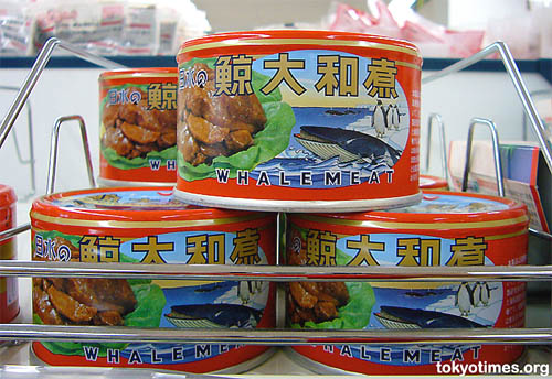 Tin of whale meat
